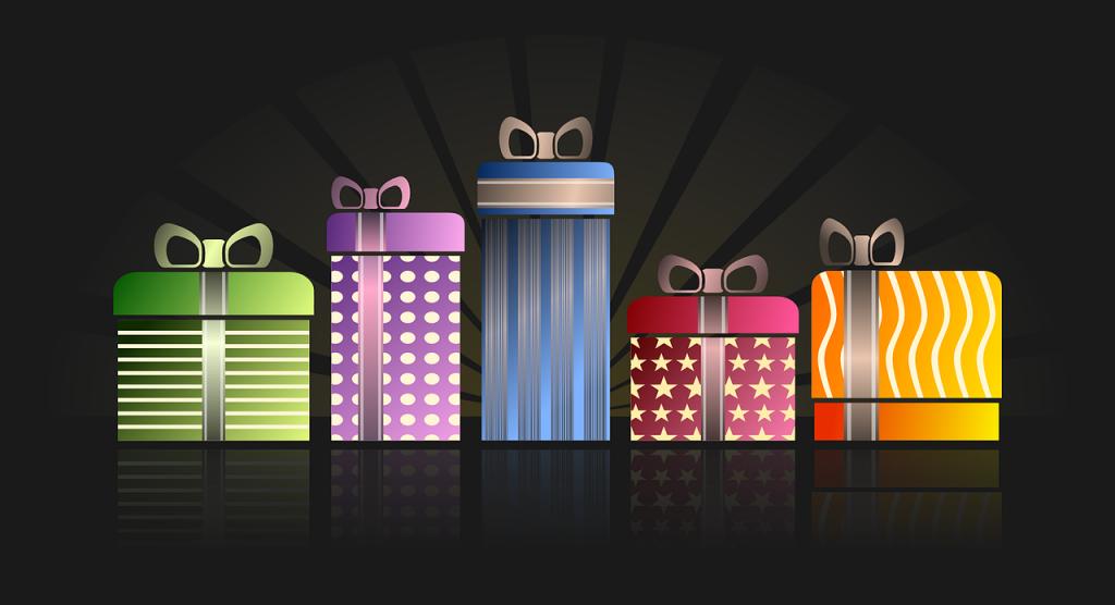 מספר מתנות בצבעים